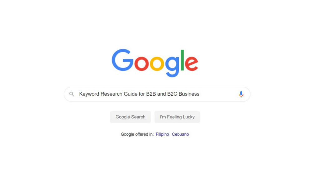 Keyword Research Guide for B2B and B2C Business