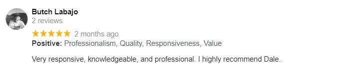 Butch Labajo Google Review